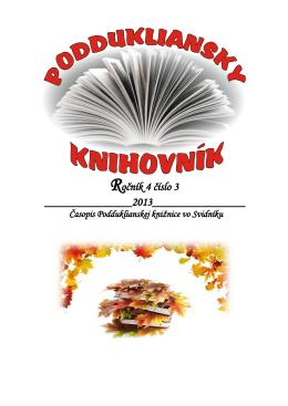 Ročník 4 číslo 3 - Podduklianska knižnica vo Svidníku