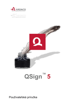 QSign 5 - Používateľská príručka