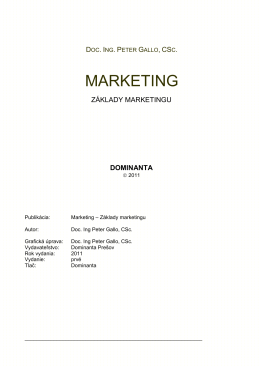MARKETING - dominanta