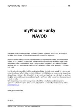 myPhone Funky NÁVOD