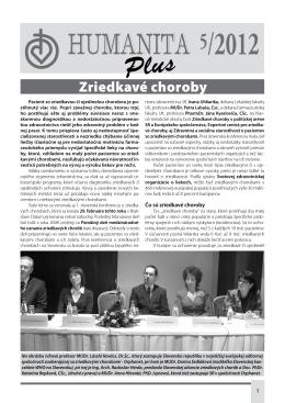 Zriedkavé choroby - Slovenská humanitná rada