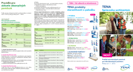 Pravidlá pre získanie absorpčných pomôcok TENA