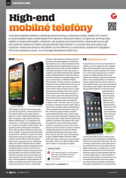 High-end mobilné telefóny