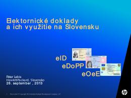 Elektornické doklady a ich využitie na Slovensku
