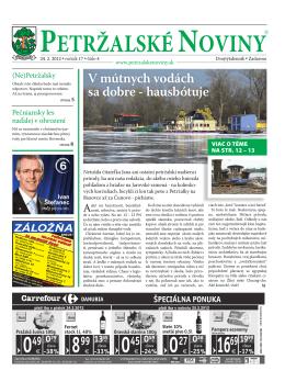 v ohrození - Petržalské Noviny