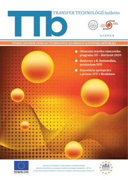 1/2014 - Transfer technológií - Centrum vedecko