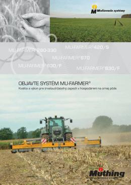 OBJAVTE SYSTÉM MU-FARMER®
