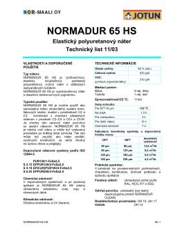NORMADUR 65 HS