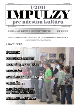 PDF - Regionálne kultúrne centrum v Prievidzi