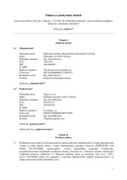Zmluva o poskytnutí služieb_ext man _Tercium
