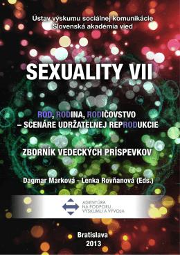 SEXUALITY VII : Rod, rodina, rodičovstvo