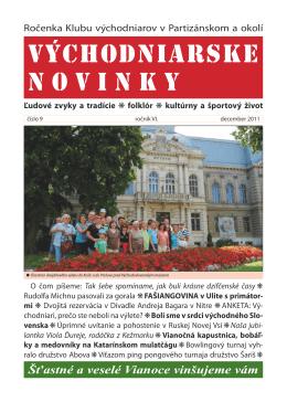 východniarske novinky - 2011