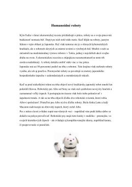 Humanoidné roboty