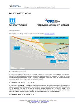 Ďalšie informácie o parkovaní vo VIEDNI