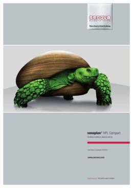senoplan® HPL Compact Farebná kolekcia, tlačená verzia