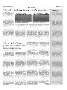 Na východ - Petržalské Noviny