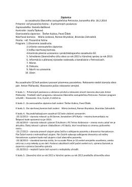 Zápisnica a uznesenie OZ z 26.2.2014