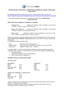 Skrátený popis všeobecného zasielateľského predpisu pre značky
