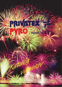 Katalóg 2009 - Privatex Pyro