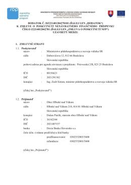 """dodatok č. dz221401204270101 (ďalej len """"dodatok"""")"""