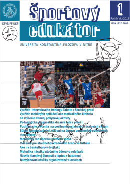 Športový_edukátor_1_2014 - Katedra telesnej výchovy a športu PF