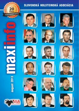 MaxiInfo 08/2013 - Slovenská holsteinská asociácia