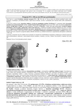Program 2015 - Inštitút Virginie Satirovej