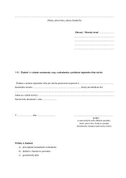 Žiadosť o pridelenie súpisného čísla (pdf)