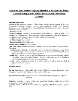 Spojené kráľovstvo Veľkej Británie a Severného Írska (United