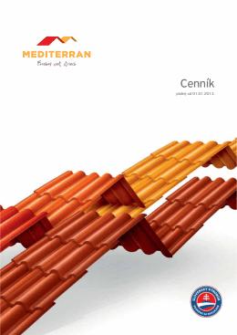 Cenník - strešná krytina Mediterran