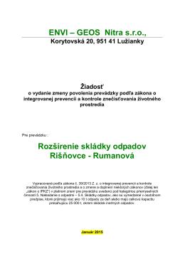 PDF Žiadosť o vydanie zmeny