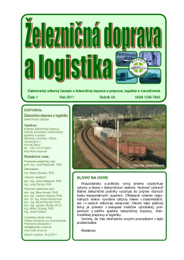 1/2011 - Fakulta prevádzky a ekonomiky dopravy a spojov