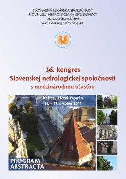 Program - Slovenská nefrologická spoločnosť