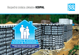 Bezpečná izolácia základov Icopal (BIZI)