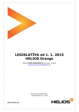 Prehľad legislatívnych zmien platných od 1. 1. 2015