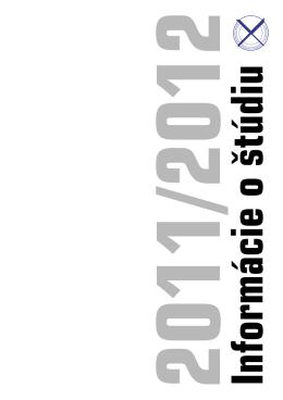 2011/2012 Informácie o štúdiu - Katolícka univerzita v Ružomberku