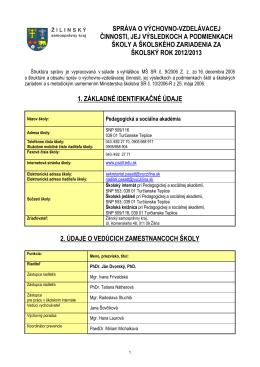 Vyhodnocovacia správa 2012/2013 (PDF)