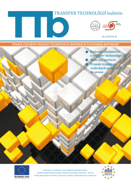 2/2013 - Transfer technológií - Centrum vedecko