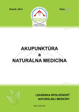 Akupunktúra a naturálna medicína 3/2014