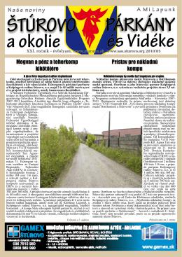 2010/5 - Mesto Štúrovo