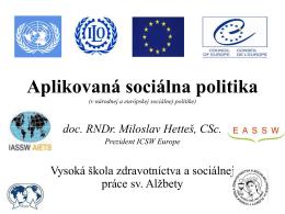 2.Aplikovaná sociálna politika 2014