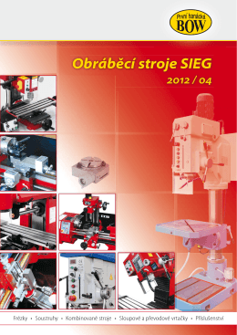 Obráběcí stroje SIEG