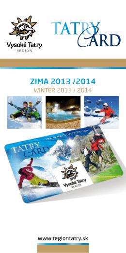 ZIMA 2013 /2014 - Región Vysoké Tatry