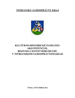nitriansky samosprávny kraj - Regionálna rozvojová agentúra
