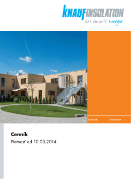 Cenník Knauf Insulation 2014