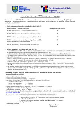 Stredná priemyselná škola dopravná, Študentská 23, Trnava