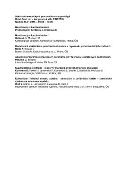 Sekcia zdravotníckych pracovníkov v arytmológií