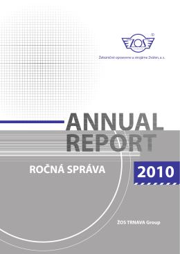 Ročná správa za rok 2010