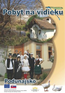 Brožúra - Pobyt na vidieku / Podunajsko