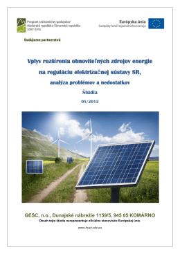 Vplyv rozšírenia obnoviteľných zdrojov energie na reguláciu